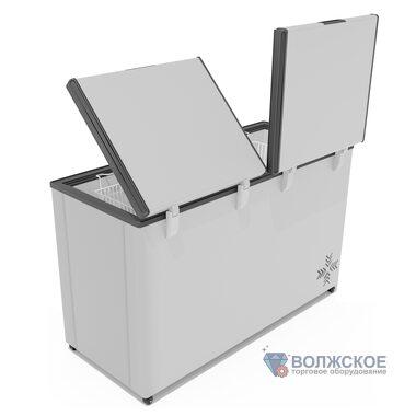 Морозильный ларь FROSTOR F500 SD (450 л) глухая двойная крышка